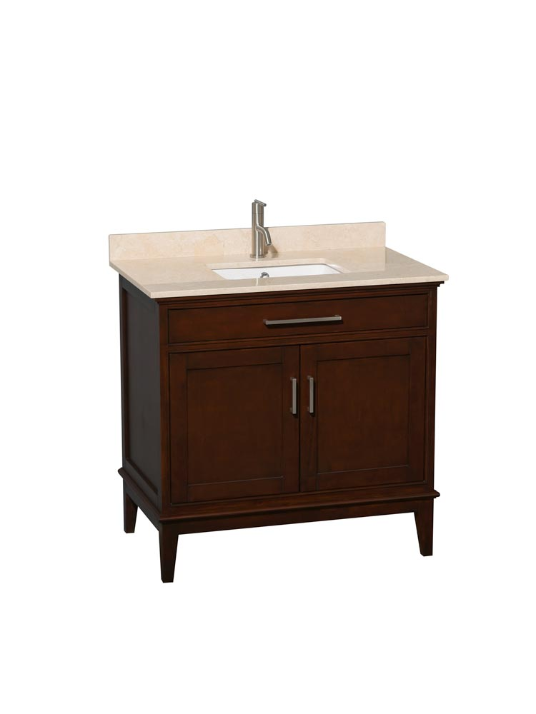 Ivory Marble Top with Square Sink