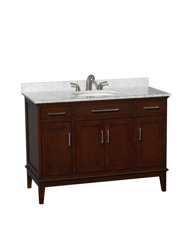 White Carrera Marble Top with Round Sink