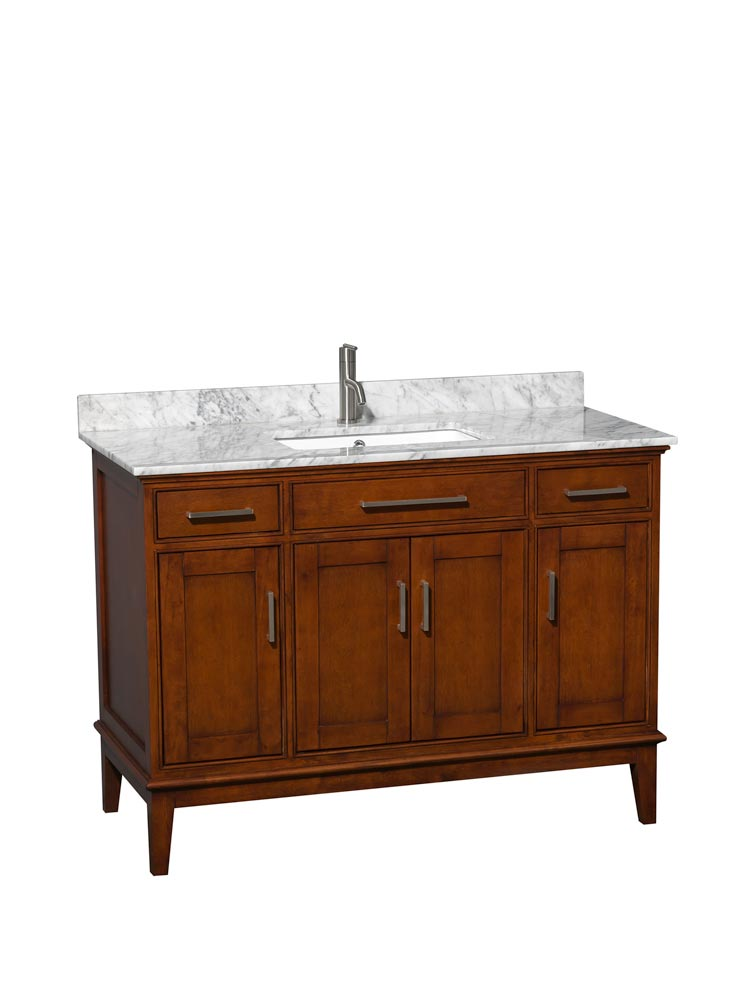 White Carrera Marble Top with Square Sink