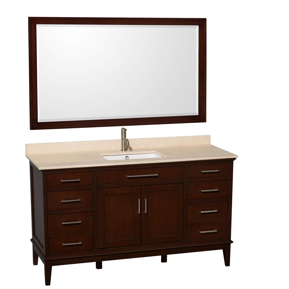 "Shown with Optional 56"" Mirror"