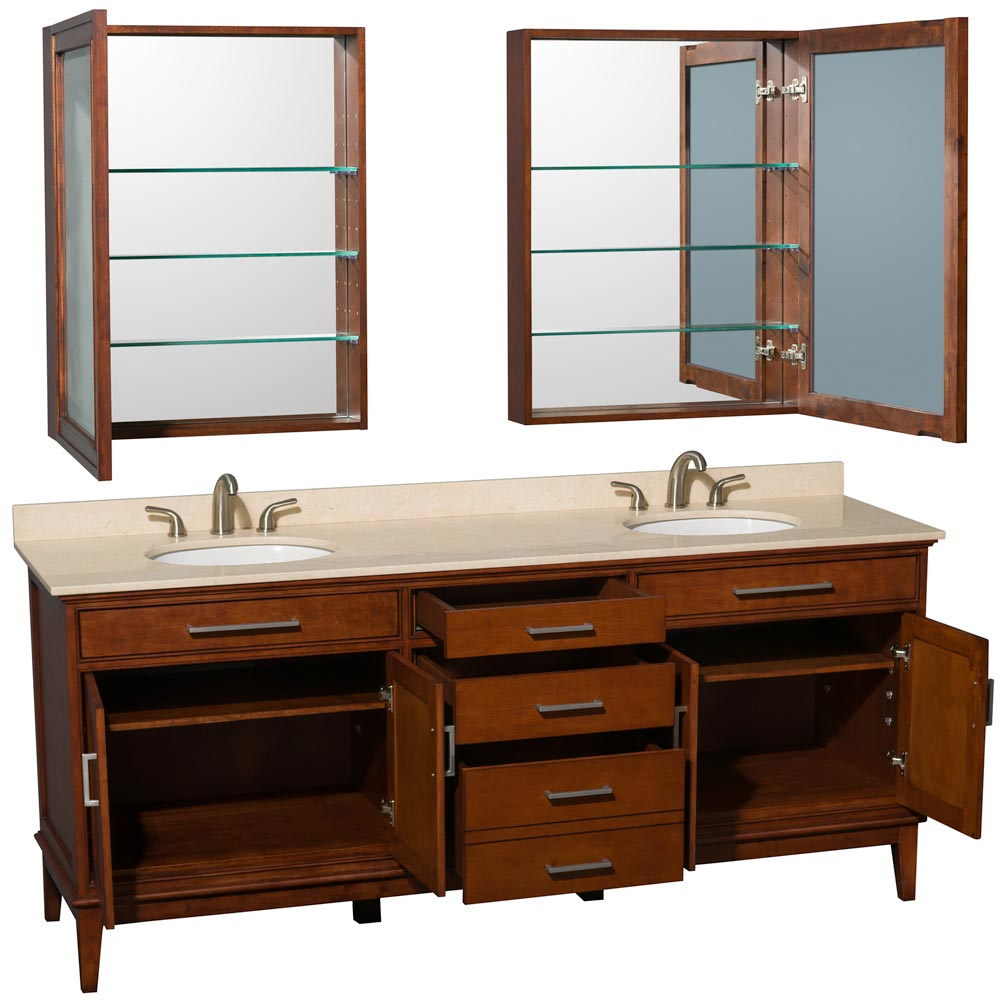 Two Double-Door Cabinets and Three Drawers