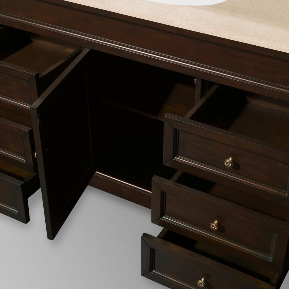 Six Drawers and Single-Door Cabinet