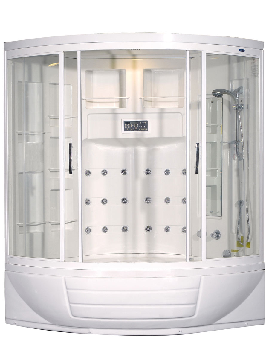 Gaston Steam Shower And Whirlpool Tub - Bathgems.com