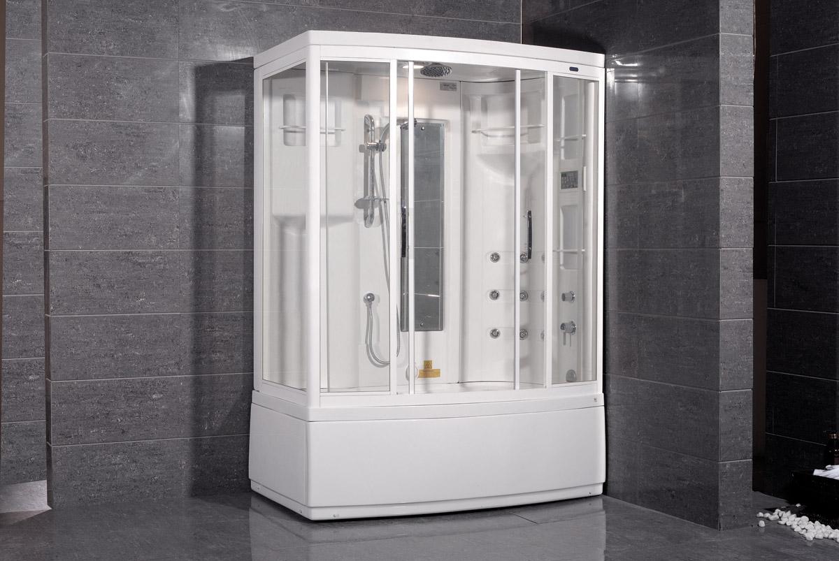 Marcian Steam Shower with Whirlpool Bathtub