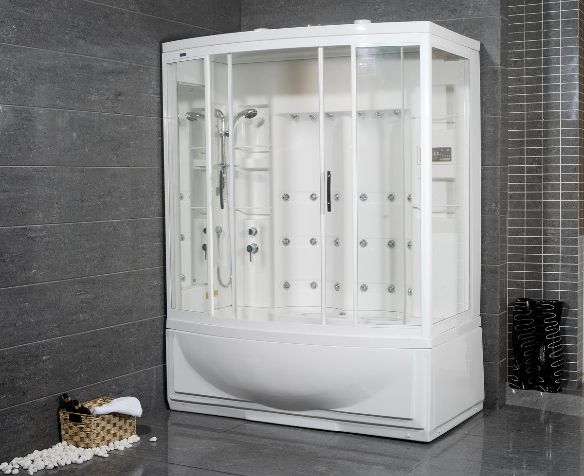 Avitus Steam Shower with Whirlpool Bathtub - Bathgems.com