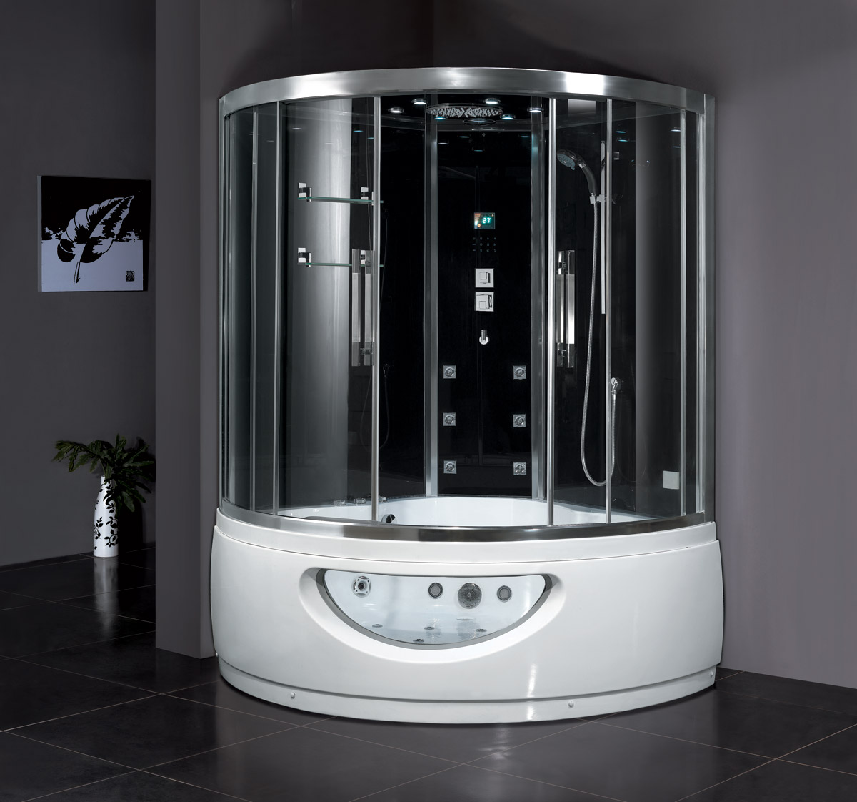 Claudius Steam Shower with Whirlpool Bathtub