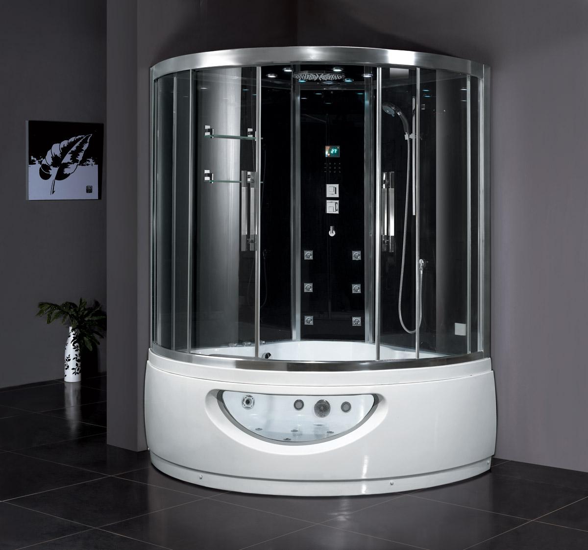 Claudius Steam Shower with Whirlpool Bathtub