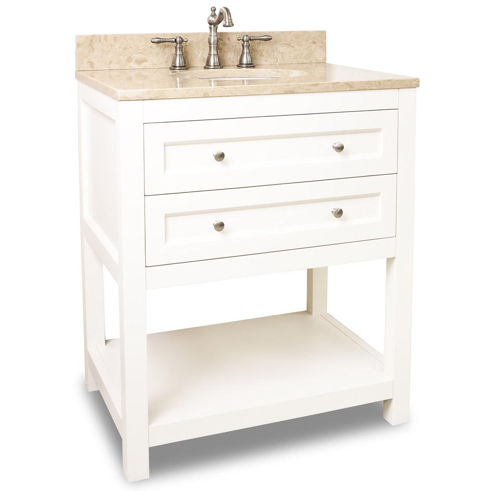 "30"" Astell Single Bath Vanity - White - Bathgems.com"