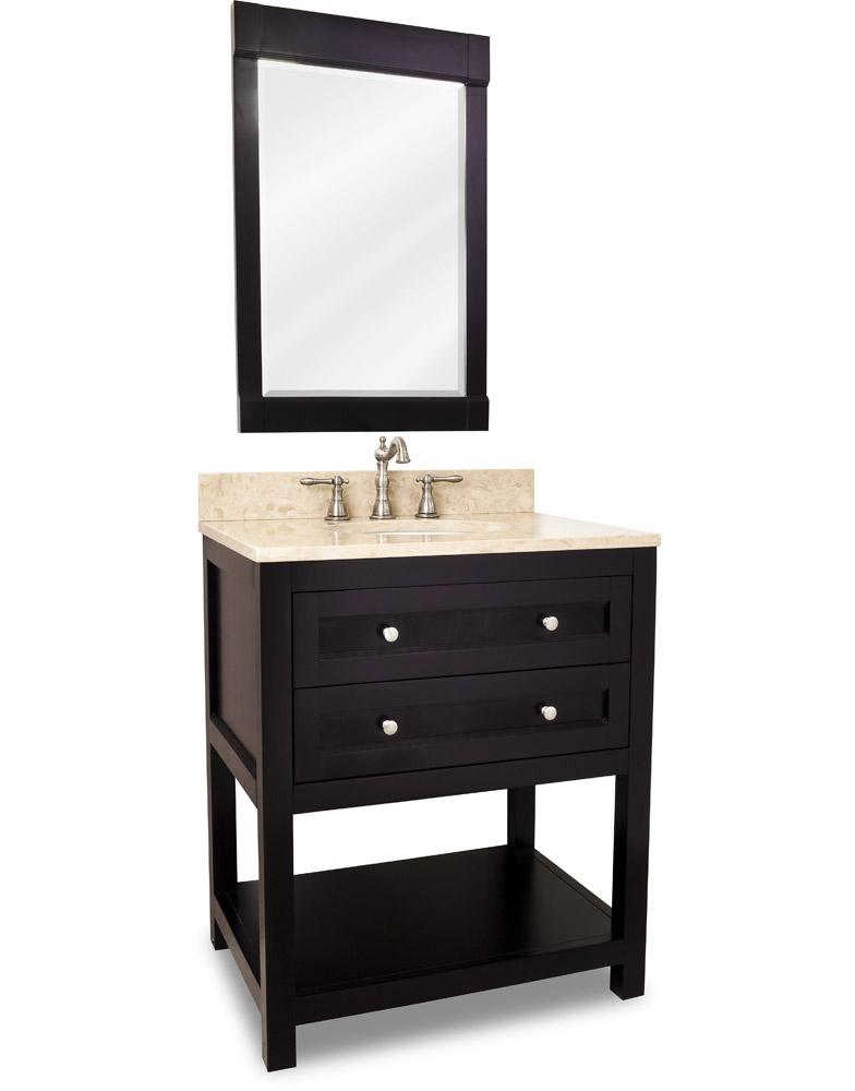 Espresso Vanity and Mirror