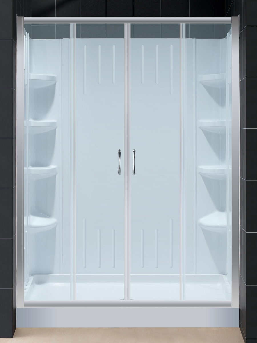 Baltic Shower Kit - With Clear Glass