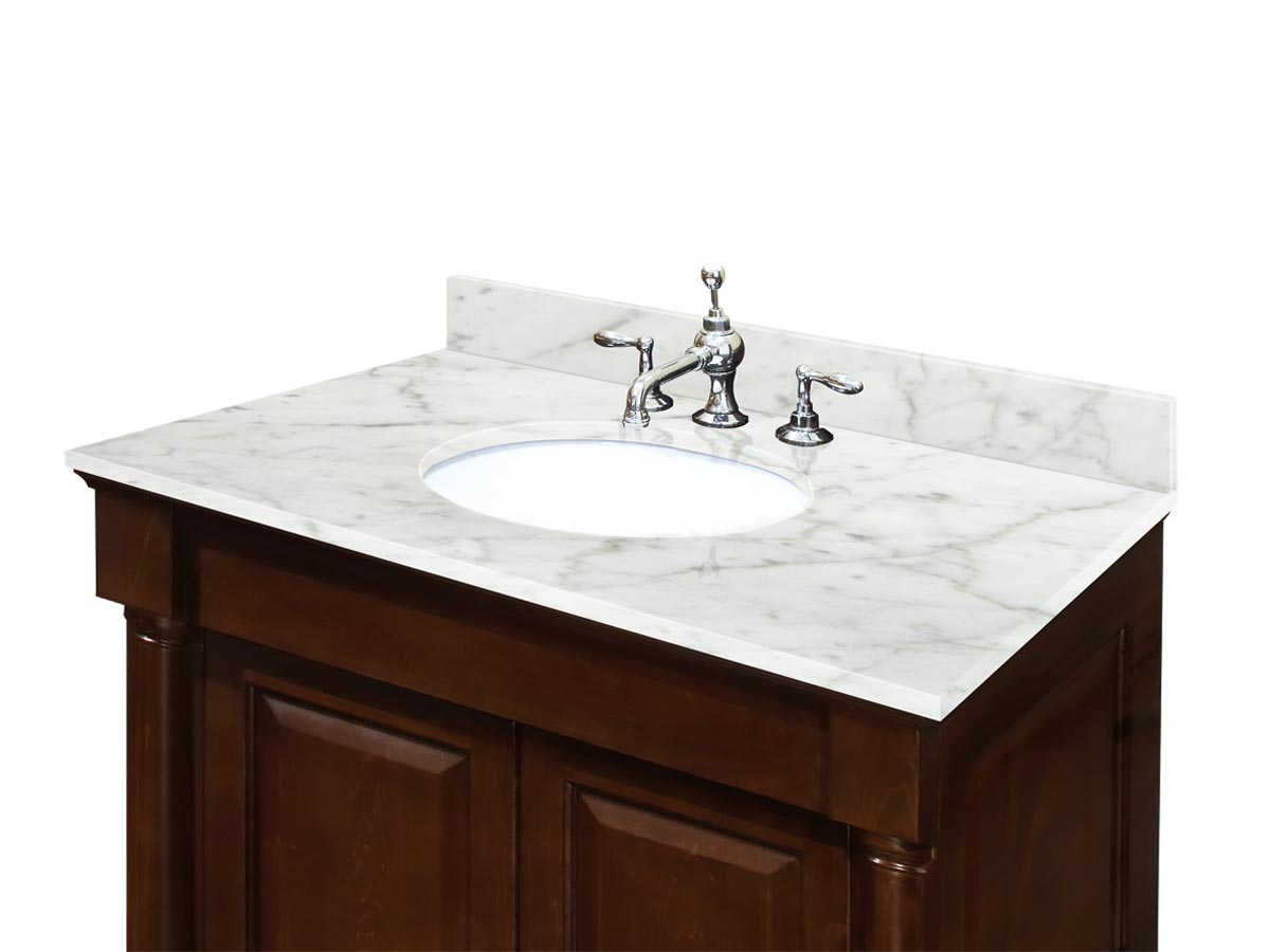 Optional Carrera White Marble Top (Shown On Different Vanity)