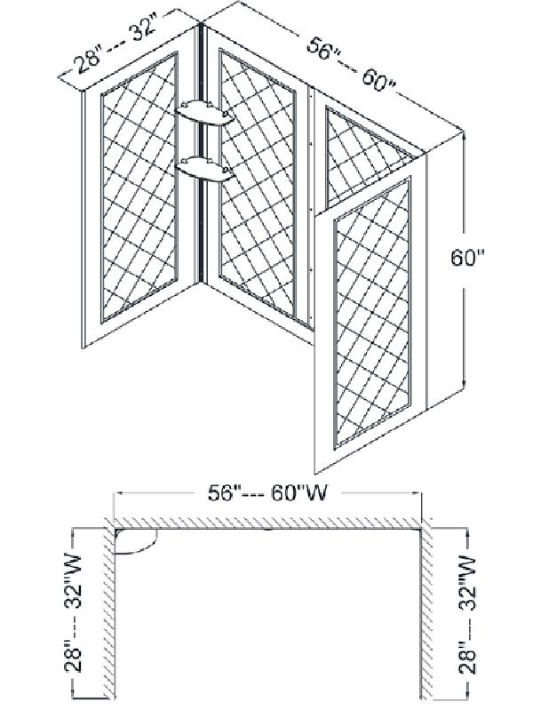 Chesapeake Bay Tub Backwall - Dimensions