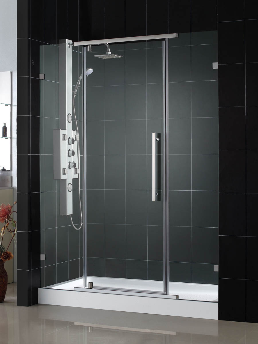 DreamLine Vitreo-X Frameless Pivot Shower Door and SlimLine 36