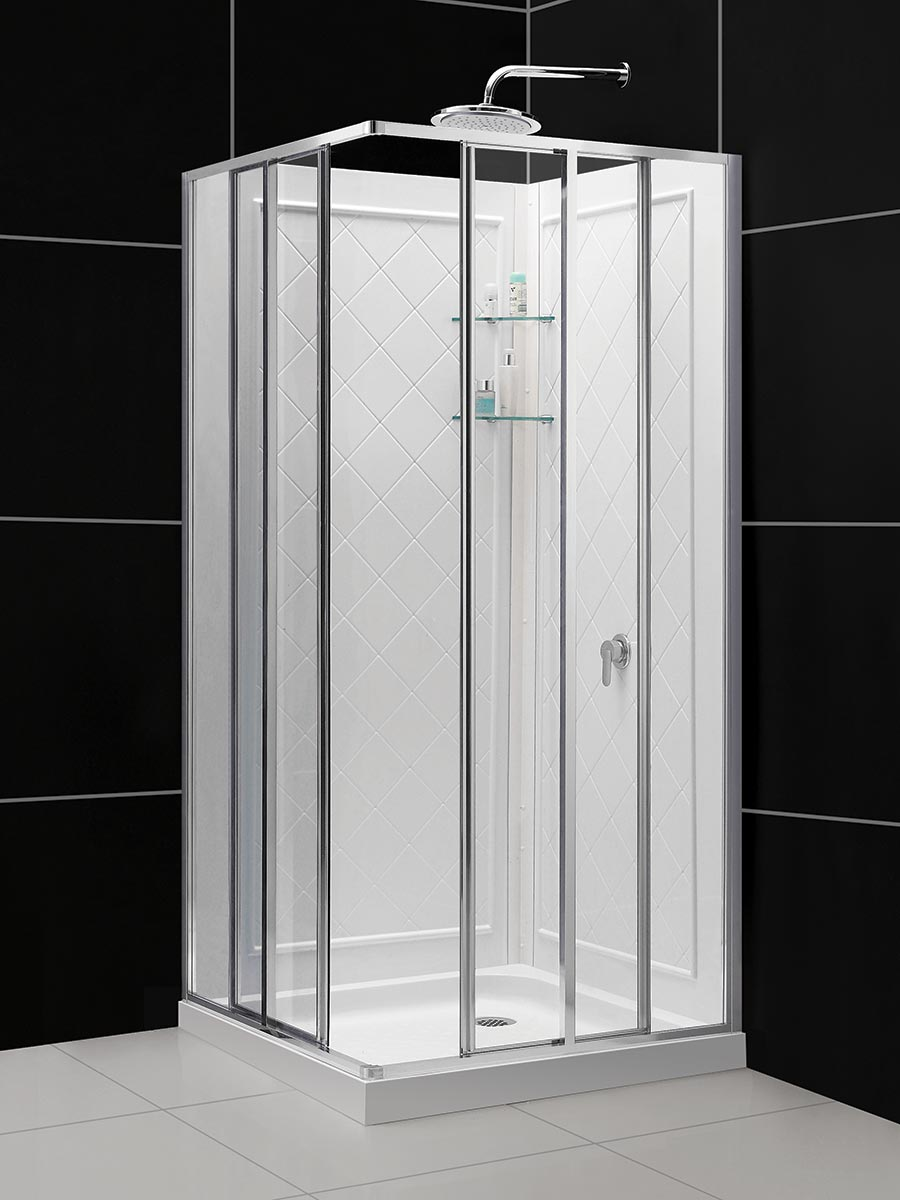 DreamLine Cornerview Framed Sliding Shower Enclosure, 36\