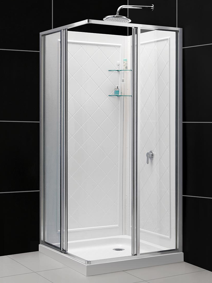 Dreamline Cornerview Framed Sliding Shower Enclosure 36