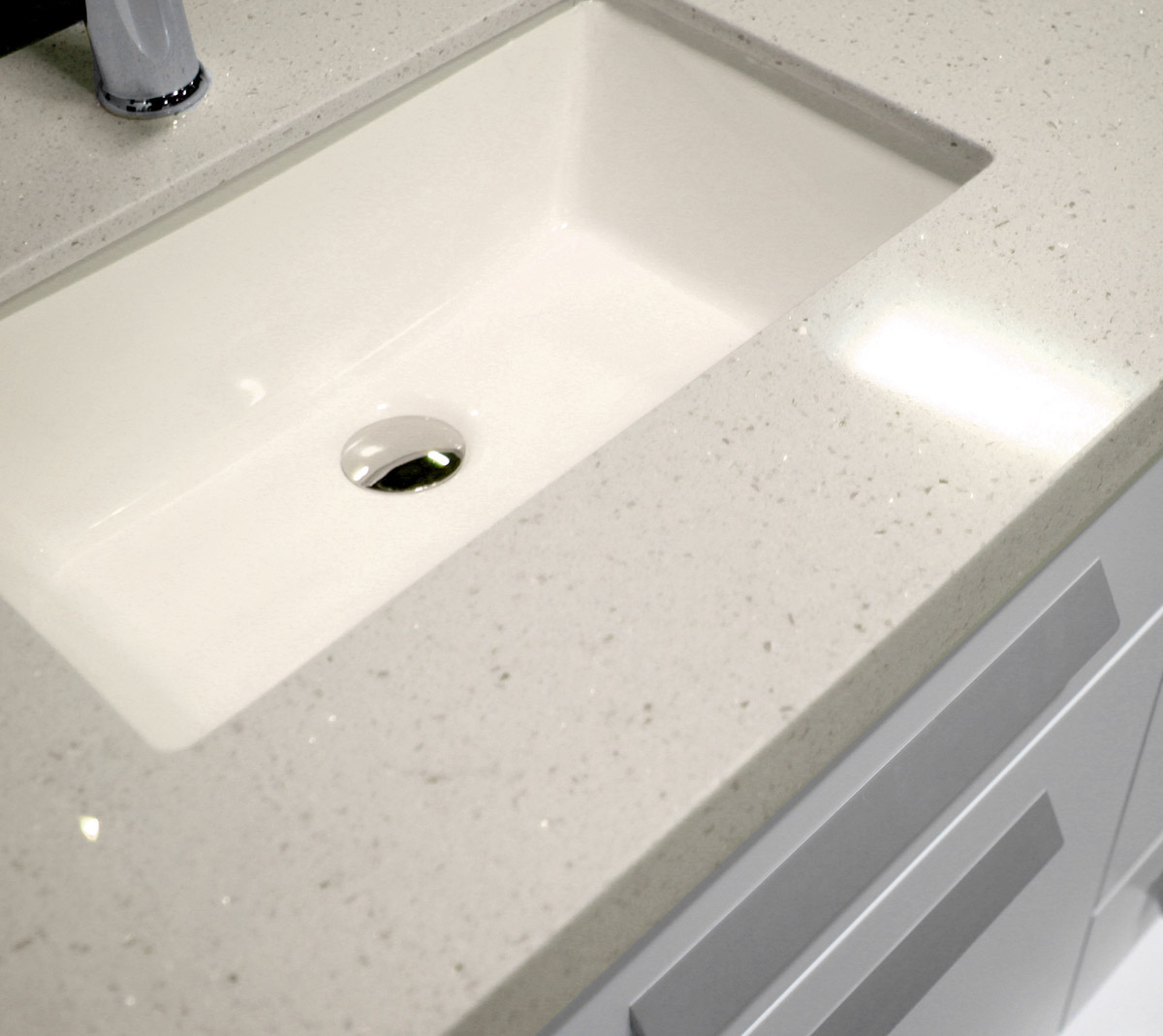 Vanity With Quartz Countertop
