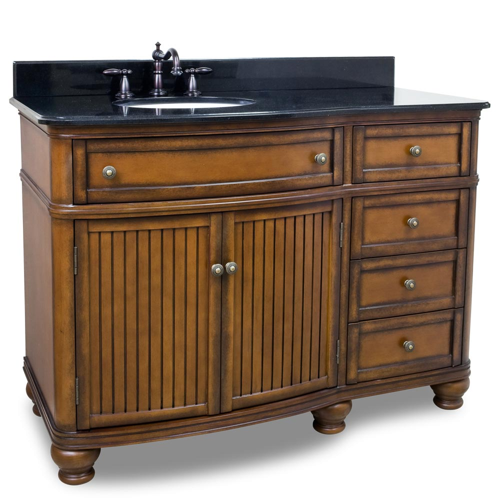 "48"" El Cajon Single Bath Vanity With Black Granite Top"