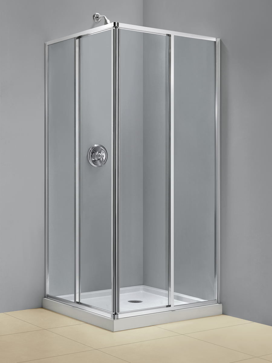 DreamLine Cornerview Framed Sliding Shower Enclosure and SlimLine 36 ...