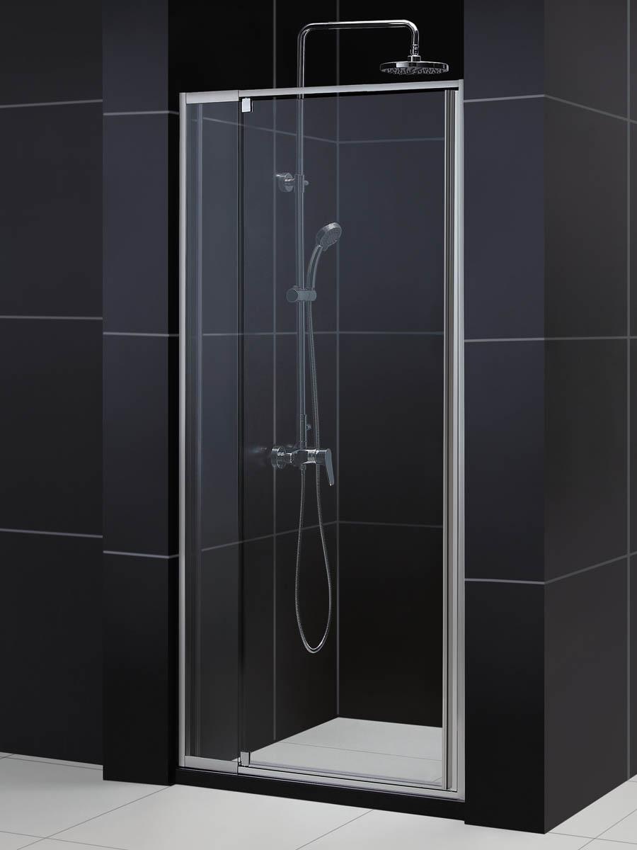 DreamLine Flex Frameless Pivot Shower Door and SlimLine 32\