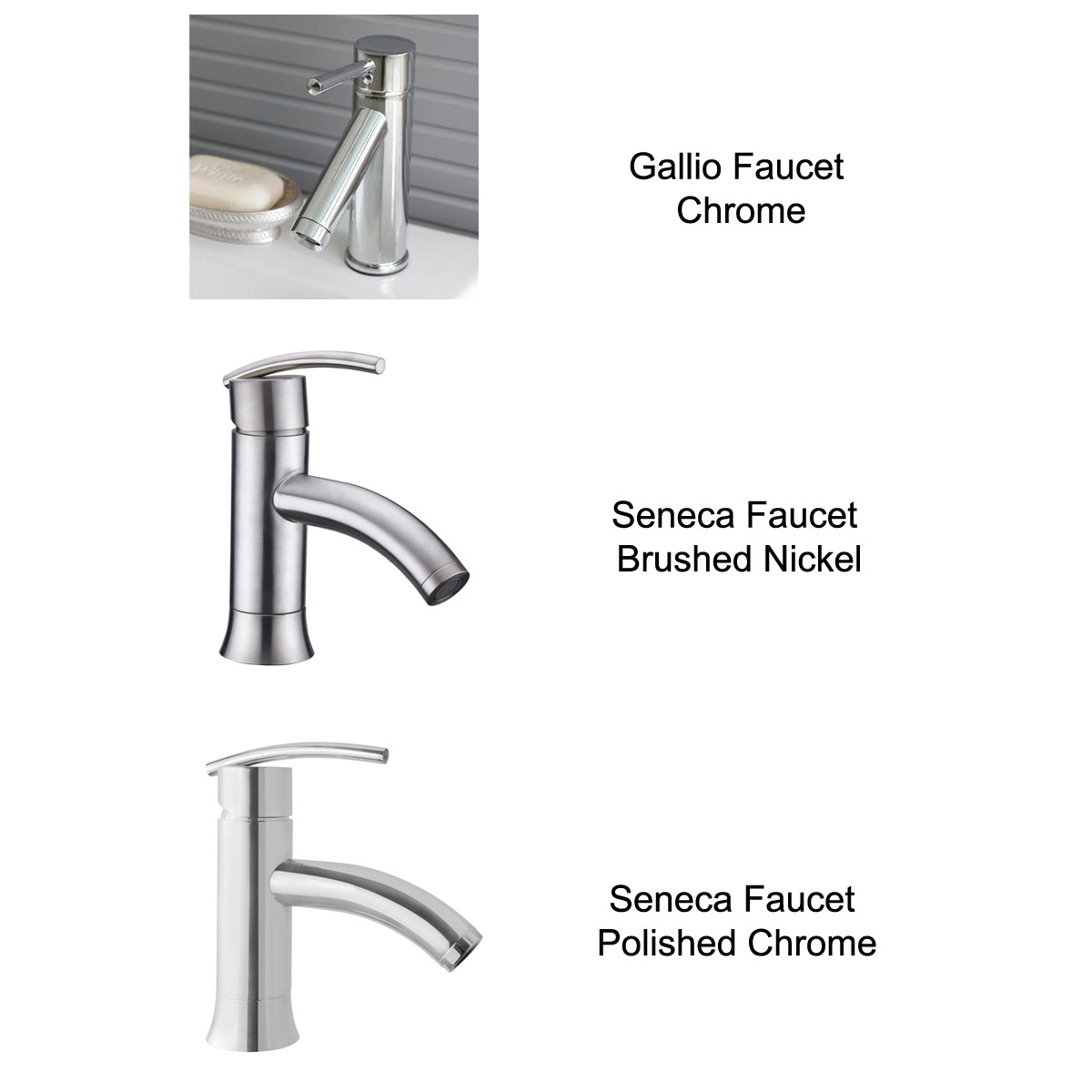 Optional Faucets