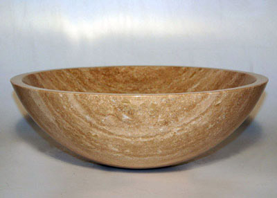 Optional Travertine Vessel Sink