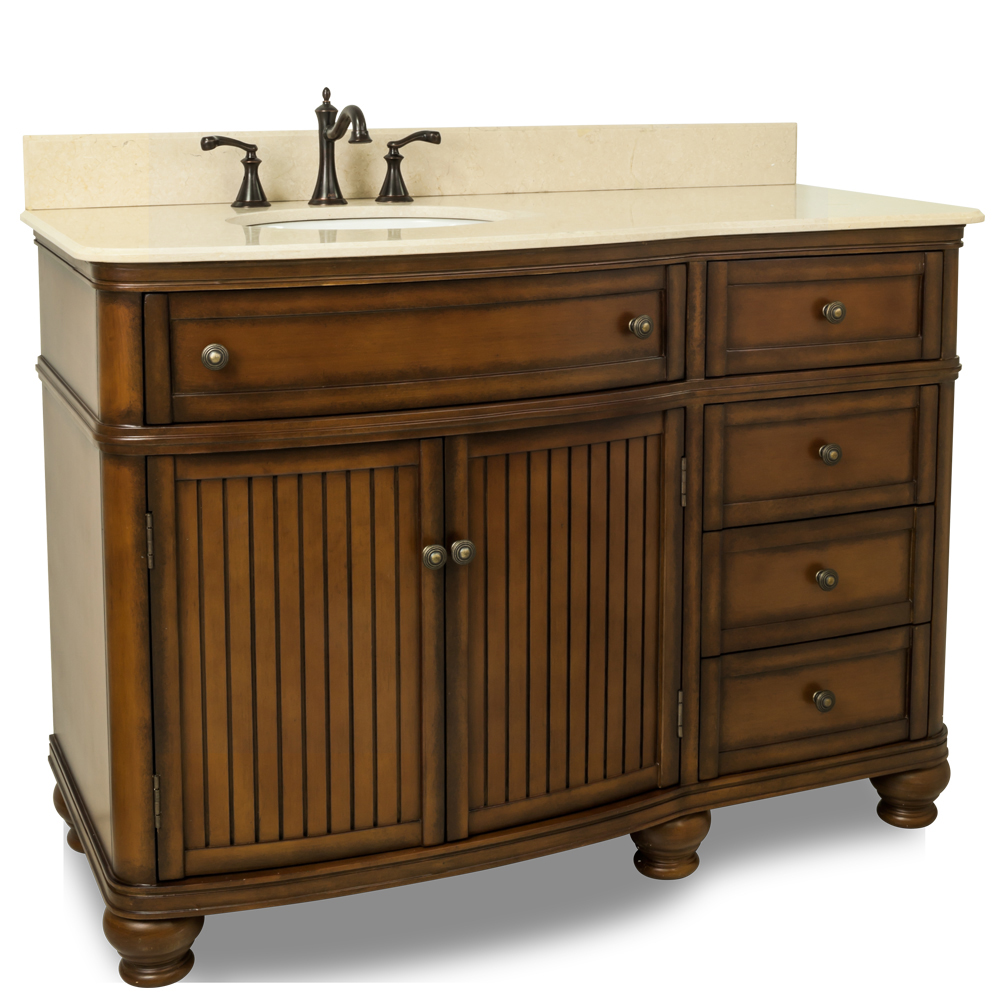 "48"" El Cajon Single Bath Vanity With Cream Marble Top"