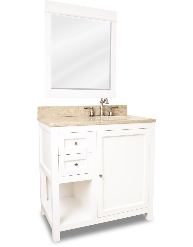 White Vanity and Mirror