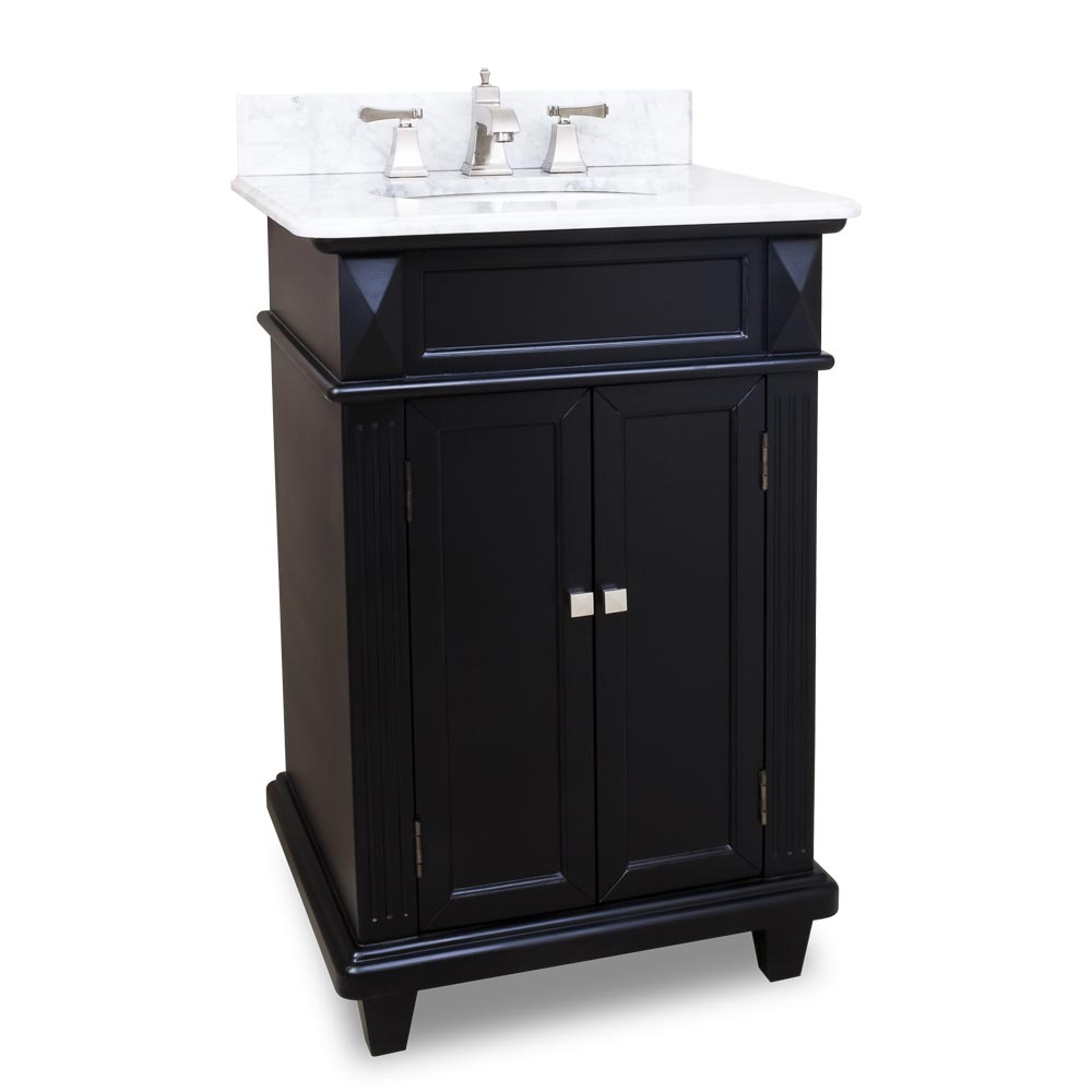24 Jupiter Single Bath Vanity Black
