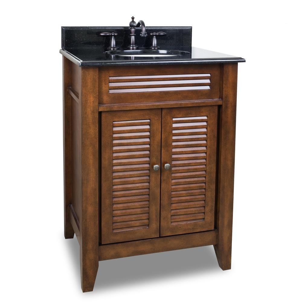 """26.5"""" Wolford Single Bath Vanity With Black Granite Top"""
