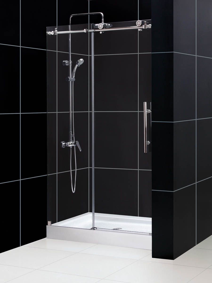 Dreamline Enigma X Fully Frameless Sliding Shower Door And Slimline