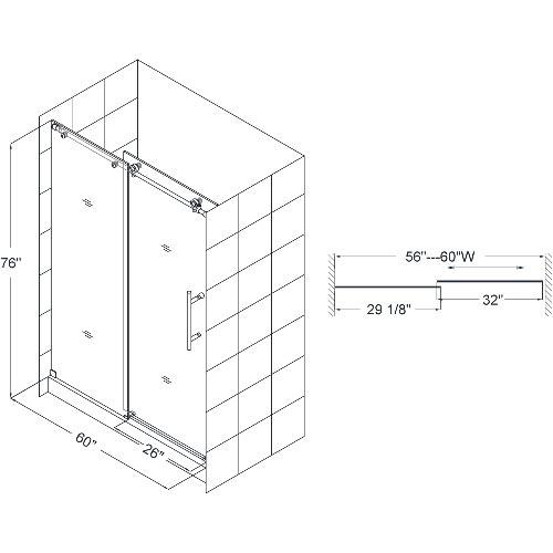 """Dimensions For 60"""" Door"""