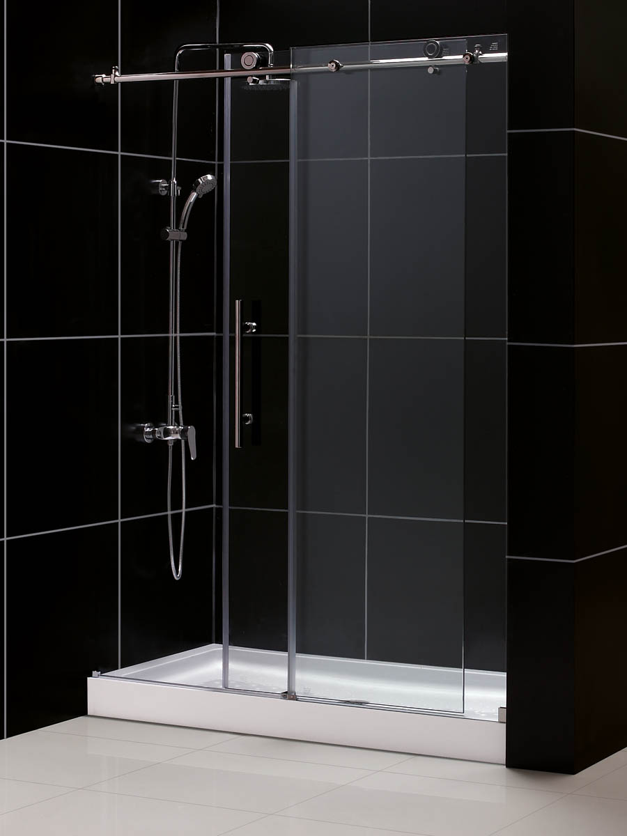 Zurich Deluxe Sliding Shower Door - shower base not included