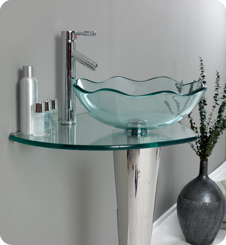 24 Netto Single Vessel Wavy Sink Vanity
