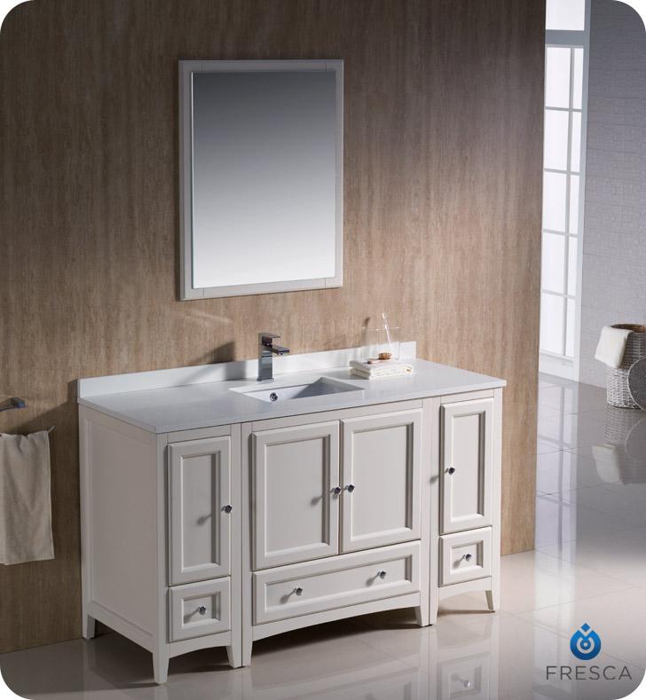 54 Quot Oxford Single Bath Vanity White Bathgems Com
