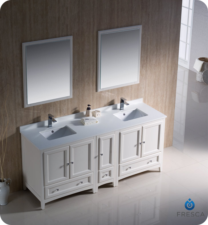 72 oxford double sink vanity style 2 white for 71 inch double sink bathroom vanity