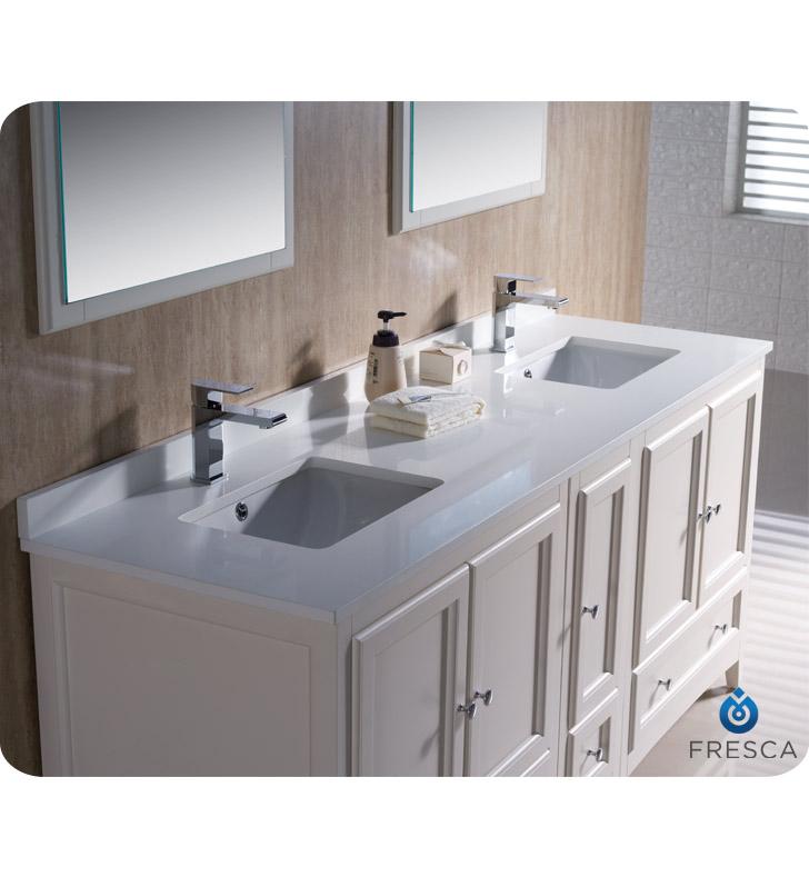 72 Oxford Double Sink Vanity Style 2 White Bathgemscom