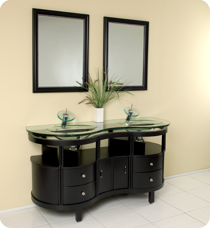63 Unico Double Sink Vanity