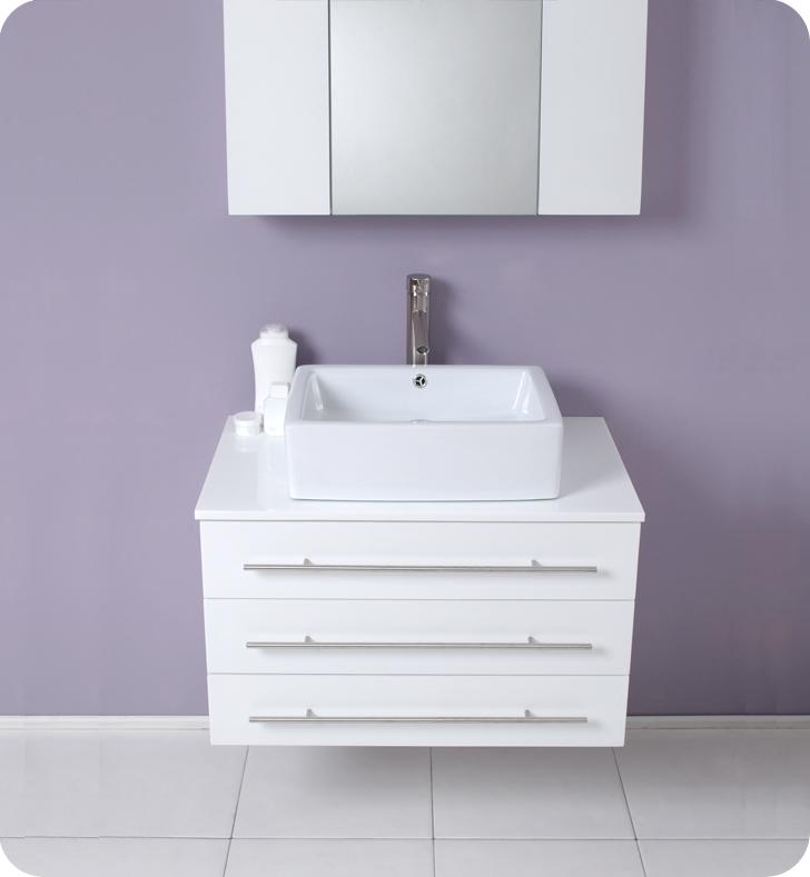 Adelina 32 inch Cottage Bathroom Vanity, White marble ...