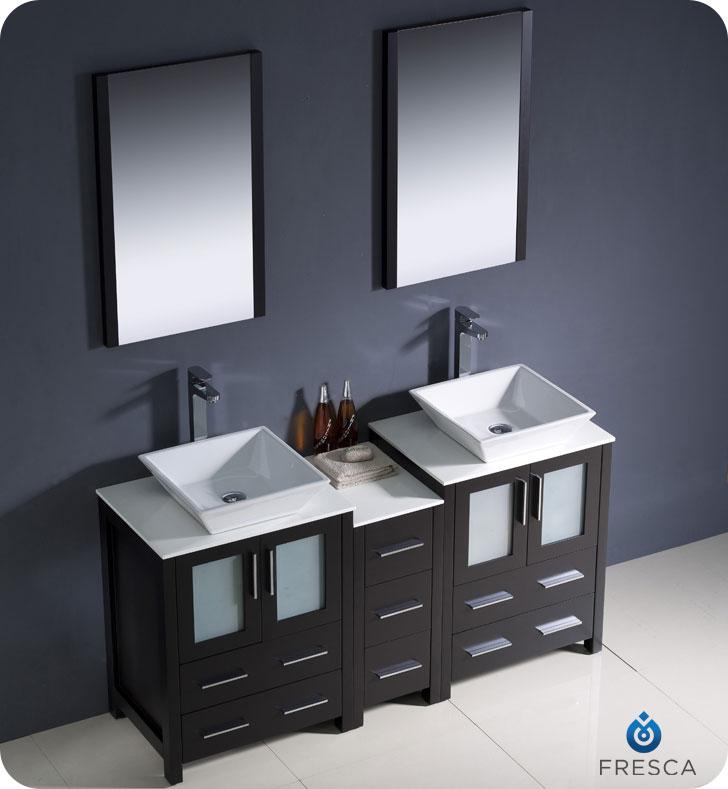 60 To 84 Torino Double Vessel Sink Vanity Espresso