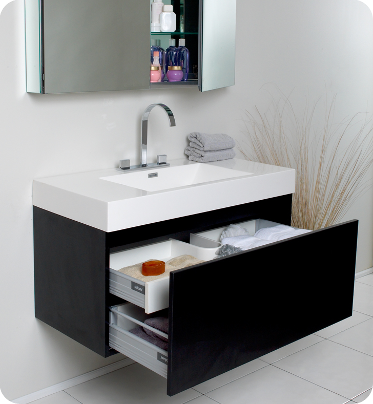 39 Mezzo Single Bath Vanity Black