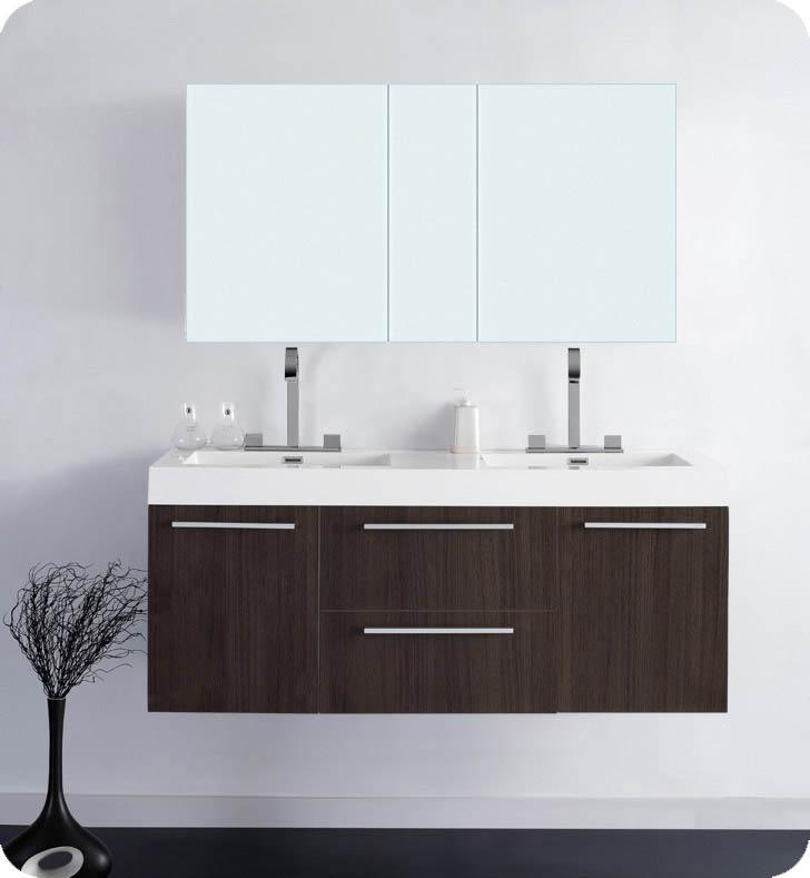 54 opulento double sink vanity gray oak 54 inch double sink bathroom vanity