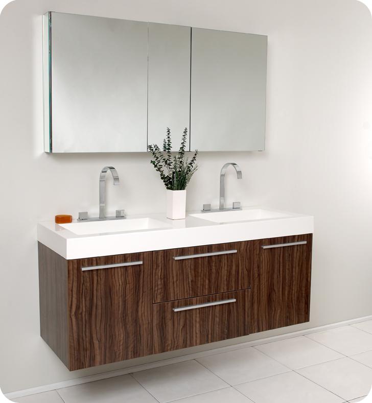 54 opulento double sink vanity walnut 54 inch double sink bathroom vanity