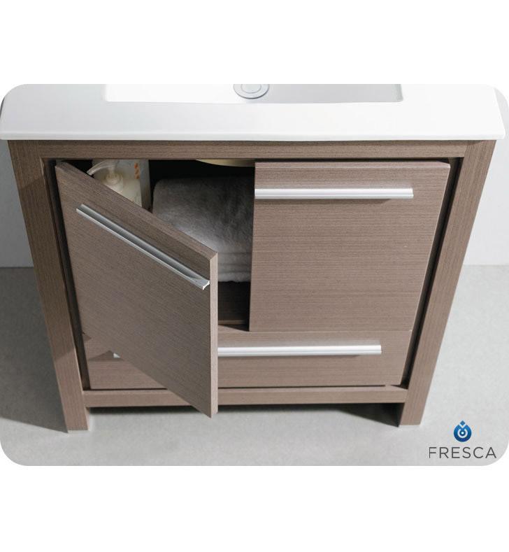 29 5 allier single bath vanity gray oak for Levi 29 5 single modern bathroom vanity set