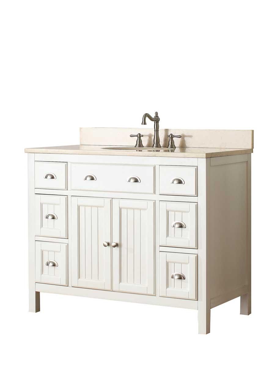 "61"" Halenia Double Sink Vanity - Galala Beige Marble Top"
