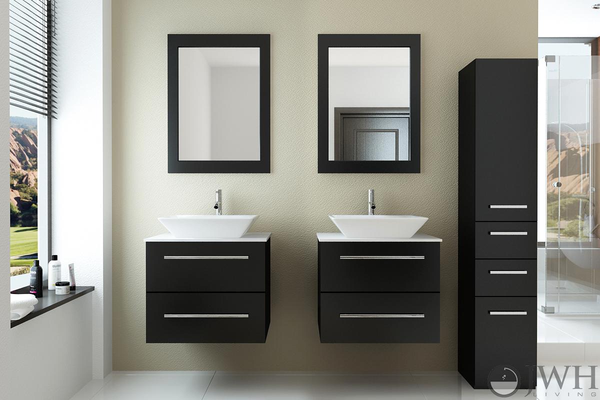 "48"" Carina Double Sink Vanity - Stone Top"