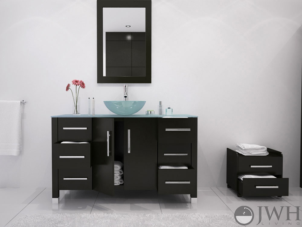 grand crater single vessel sink vanity glass top kokols modern bathroom and blue combo set bath tops for sinks