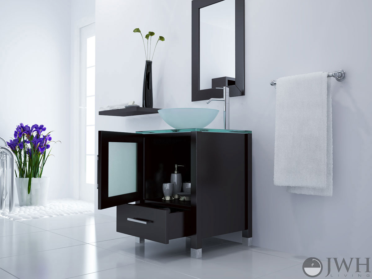 "23.75"" Soft Focus Single Vessel Sink Vanity"