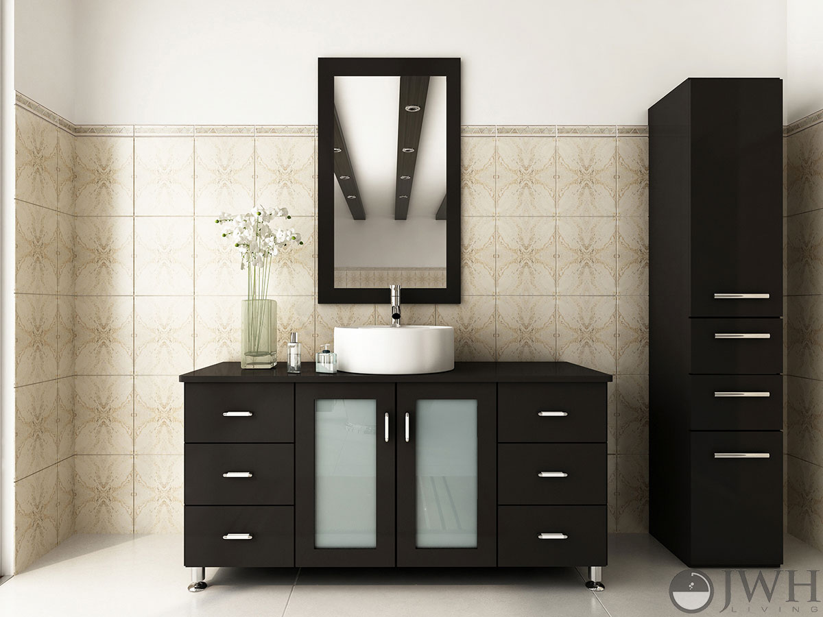 bathroom cabinets modern 47 quot grand lune single bathroom vanity espresso 11326
