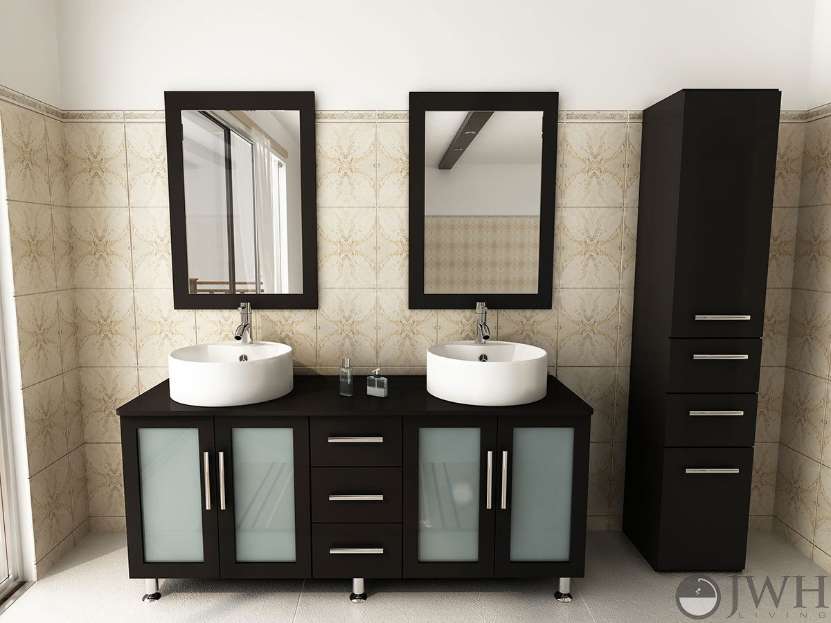 "59"" Double La Lune Bathroom Vanity"