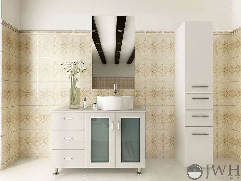 single white vanity with sink. 39  Lune Single Vessel Sink Vanity White Bathroom Bathgems com